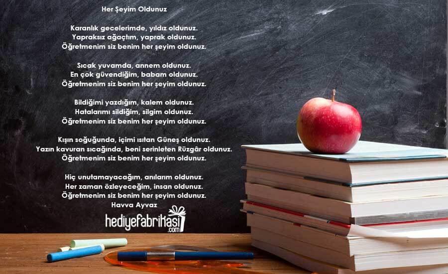 öğretmenim şiiri