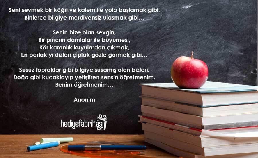 Öğretmenler günü şiiri