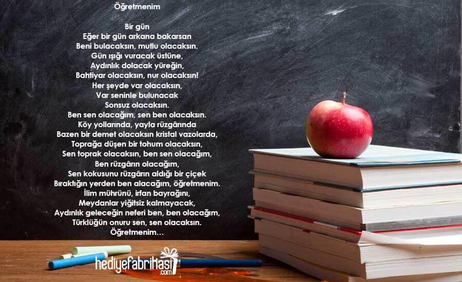 Öğretmenler ile ilgili şiir örnekleri