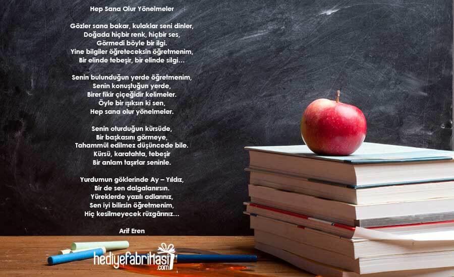 Öğretmene Hediye notu