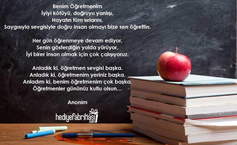 24 Kasım Öğretmenler Günü Şiirleri