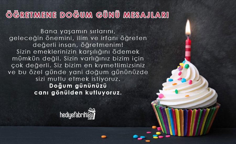 öğretmene doğum günü mesajları