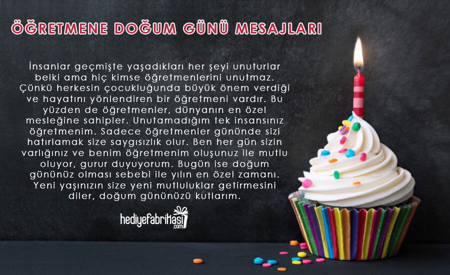 bayan öğretmene doğum günü mesajı