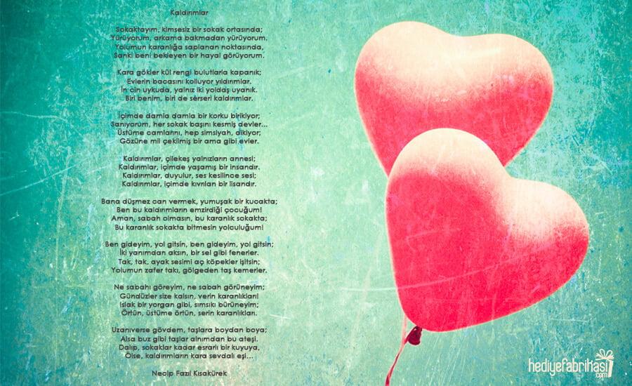 14 şubata özel En Romantik Sevgililer Günü şiirleri Hediye