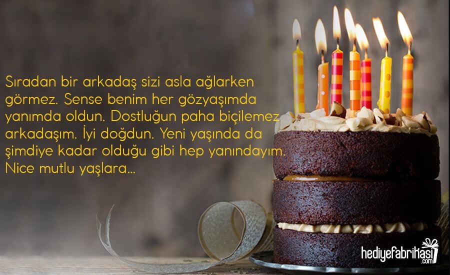 arkadaşa doğum günü mesajı
