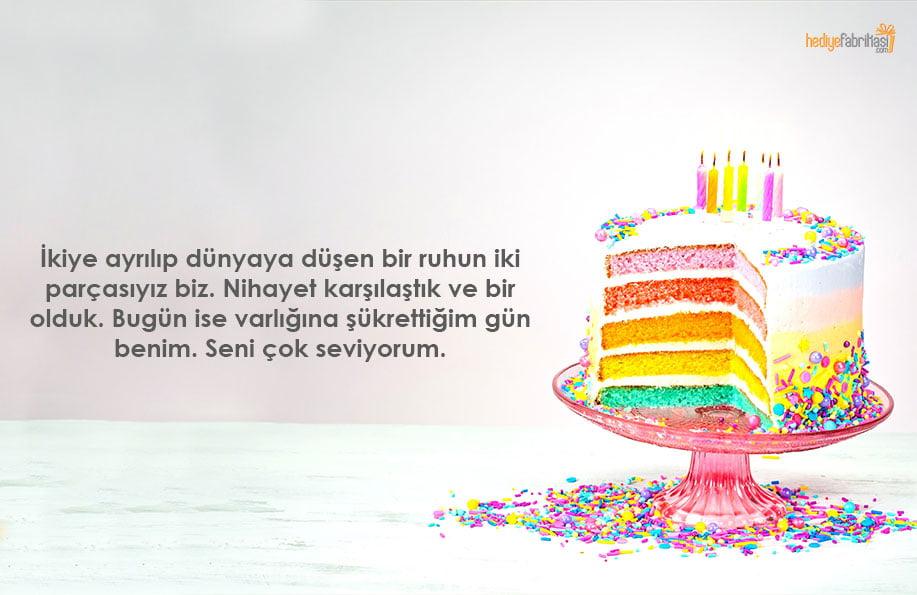 doğum günü pastası yazıları aşk