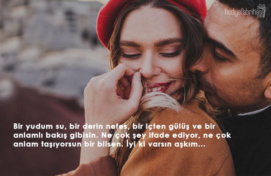 sevgiliye güzel sözler anlamlı