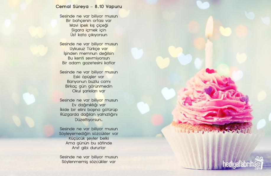doğum günü şiiri cemal süreya