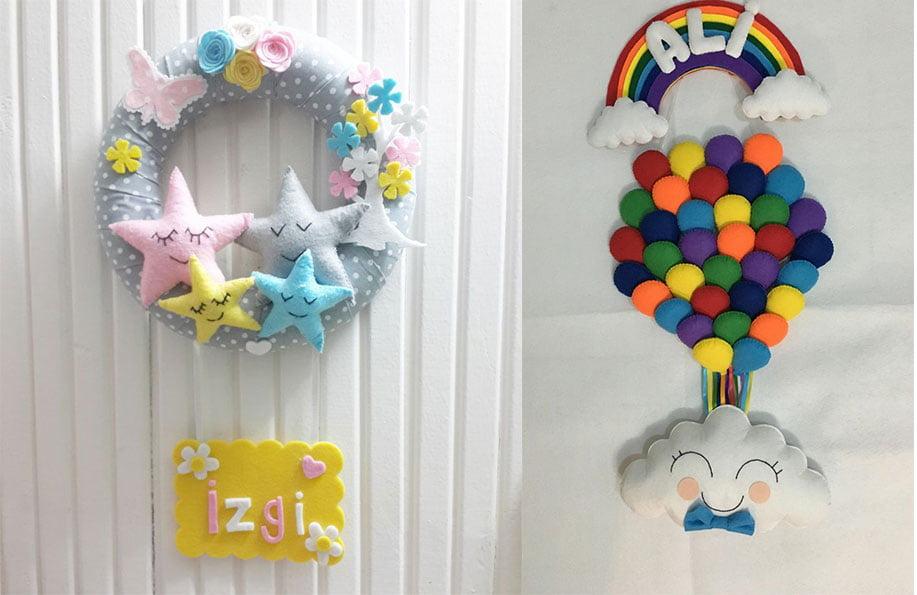 kapı süsü bebek odası