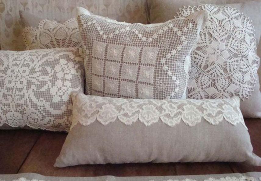 dantelli yastık yapımı