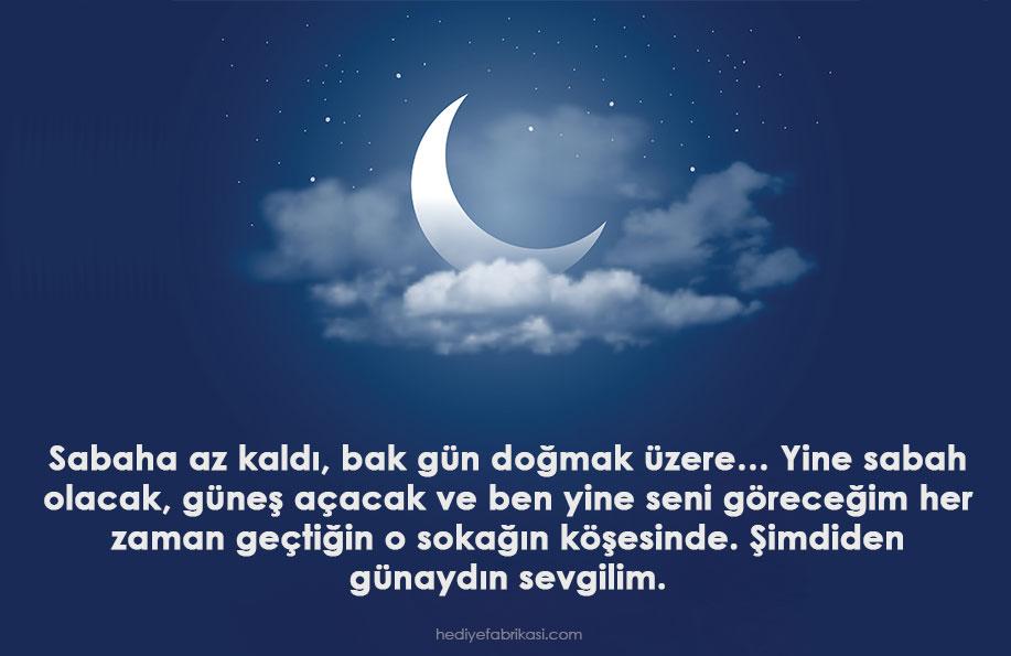 sevgiliye iyi geceler mesajı