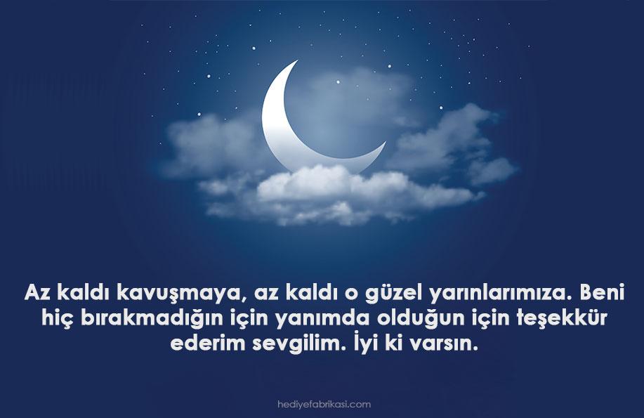 sevgiliye iyi geceler mesajı romantik