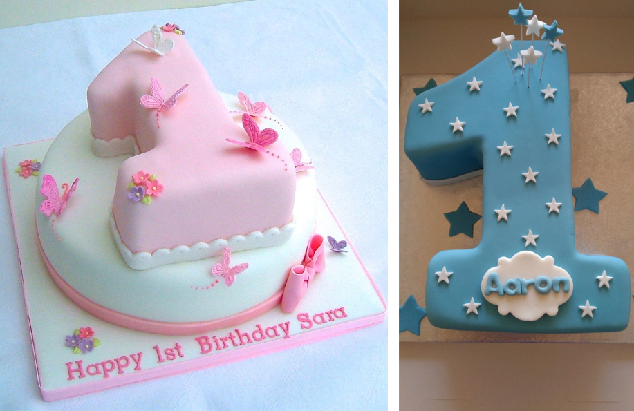 rakamlı 1 yaş pastası