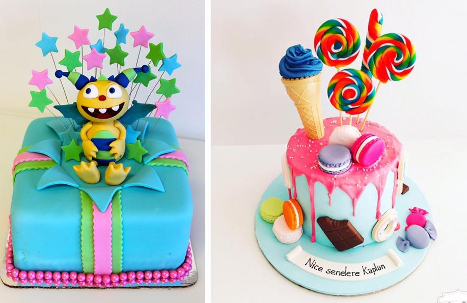 şekerlemeli 1 yaş pastası