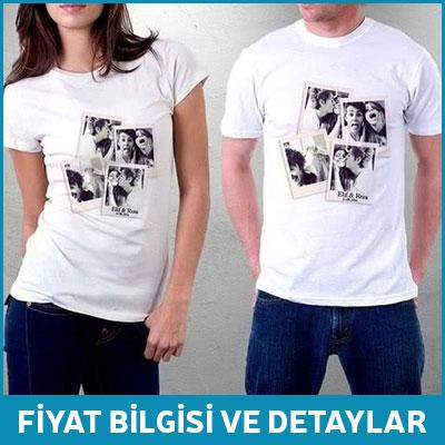 Fotoğraf Kolaj Baskılı İsimli T-shirt