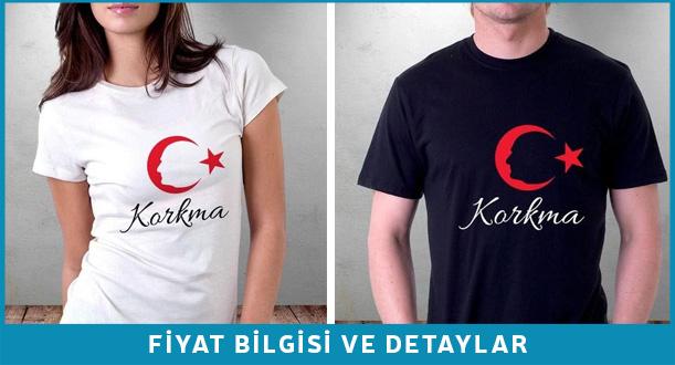 Atatürk Silüetli Baskılı T-shirt