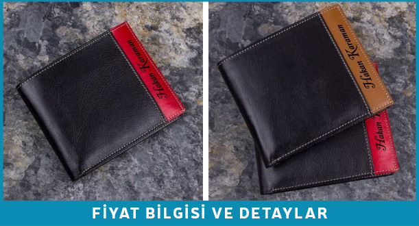 kişiye özel deri cüzdan