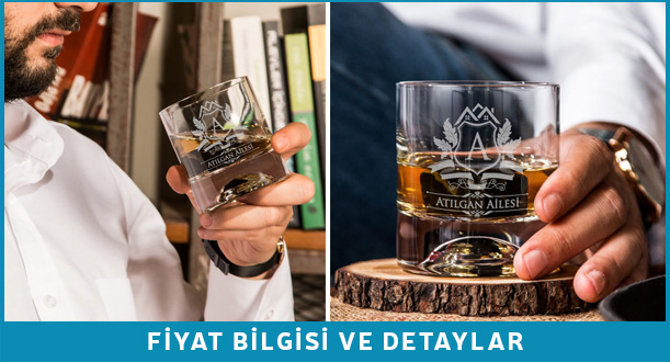 kişiye özel viski bardağı